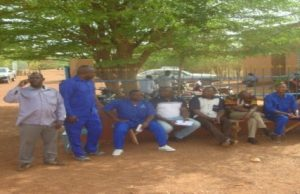 Une vue des agents en sit-in à Ouahigouya (DR)